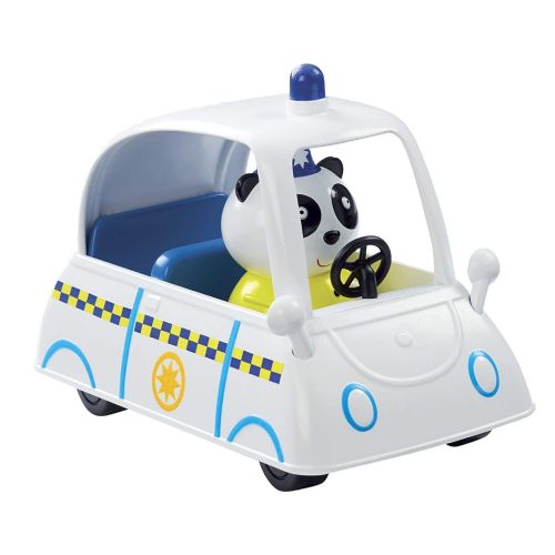 Peppa Pig PC PANDA'S POLICE Car - Push Along Vehicle - NEW